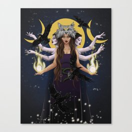 Hecate Goddess Canvas Print