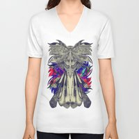 phoenix V-neck T-shirts featuring PHOENIX by Galvanise The Dog