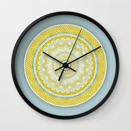 Mustard Mandala Wall Clock