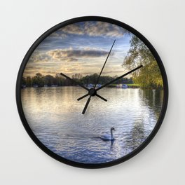 River Thames  Sunset Wall Clock