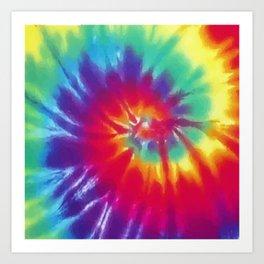 Tie Dye Swirl Pattern Art Print
