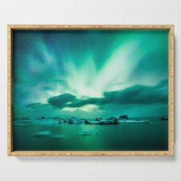 Aurora Borealis. Serving Tray