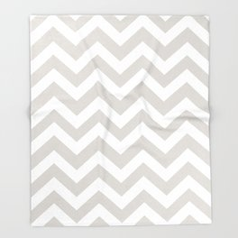 Timberwolf - grey color - Zigzag Chevron Pattern Throw Blanket