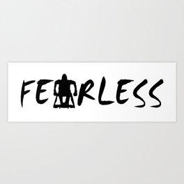 Fearless Adaptive Sports Design Art Print