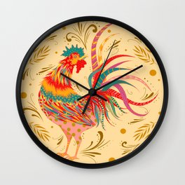 Funky Rooster Wall Clock