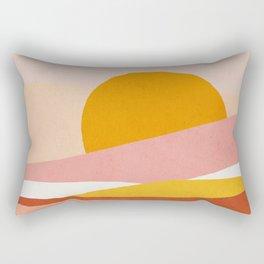 Abstract landscape - Mid century modern kids art - Children's art - Kids decor - Nursery room Rectangular Pillow