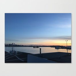 Sunset in North Van Canvas Print