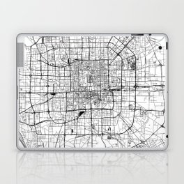 Beijing White Map Laptop & iPad Skin