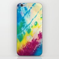 tie dye iPhone & iPod Skins featuring Tie Dye by Kait & Court