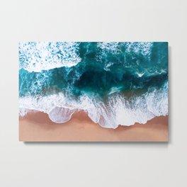 Aerial Foam Beach Metal Print