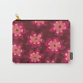 Burgundy Lace Rose Carry-All Pouch
