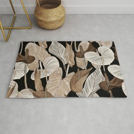 Lush lily - russet Rug