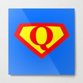 Letter Q Power Sign Metal Print