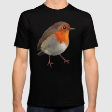Robin Black MEDIUM Mens Fitted Tee