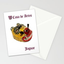 Ceremonial Jaguar Mask Casa de Artes - Antigua Guatemala Stationery Cards