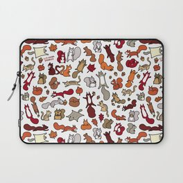 Squirrels in Fall Doodle Laptop Sleeve