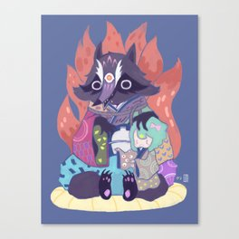 Tanukikitsune Canvas Print