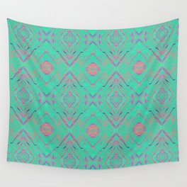 Green marble effect Wall Tapestry