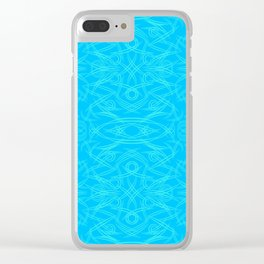 Abstract blue patterns of trees, stalks and leaves for spring and summer mood. Clear iPhone Case