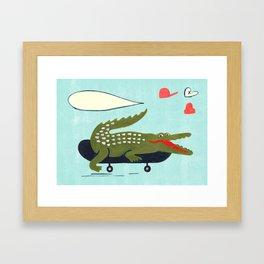kroko Framed Art Print