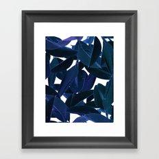 Botanical Purple Rain Framed Art Print