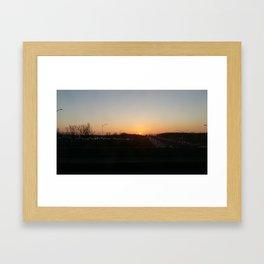 Sunset at Laval X Framed Art Print