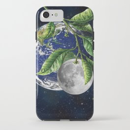 Full moon and Earth iPhone Case