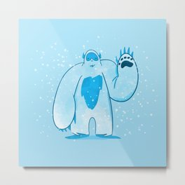 A is for: Abominable! Metal Print