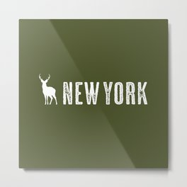 Deer: New York Metal Print