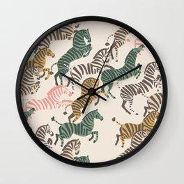 Zebra Stampede Wall Clock