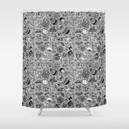 heaps of heads Shower Curtain