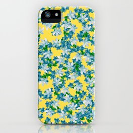Summer Flowers Yellow iPhone Case