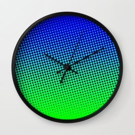 80's grade blue Wall Clock