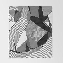 Abstract Geometric 3D Heart Throw Blanket