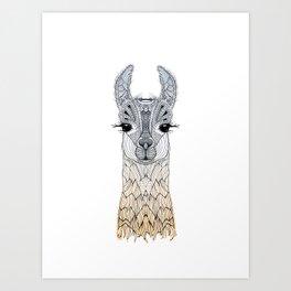 BABY LAMA (CRIA) Art Print