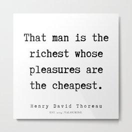 83  | Henry David Thoreau Quotes  | 190715 | Metal Print