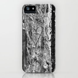 Carvings in Tree Trunk Gnarly Texture Pattern iPhone Case