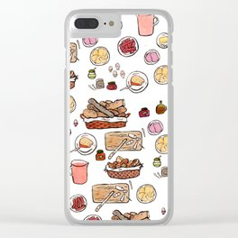 birthday breakfast Clear iPhone Case