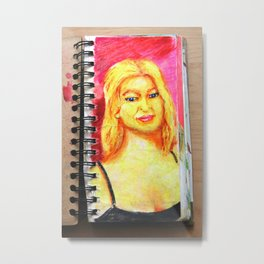 Euro Blonde from A Sketchbook Metal Print