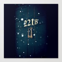 221b Canvas Prints featuring Victorian 221B by MarinaArt