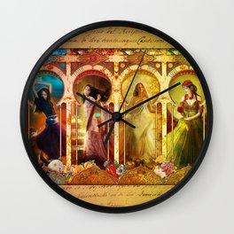 Joy Faith Hope and Love Wall Clock