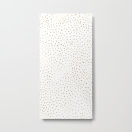 Dotted Gold Metal Print