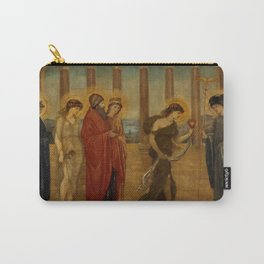 "Edward Burne-Jones ""Cupid and Psyche - Palace Green Murals - Psyche entering the Portals of Olympus"" Carry-All Pouch"