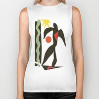 matisse Biker Tanks featuring Inspired to Matisse (vintage) by Chicca Besso
