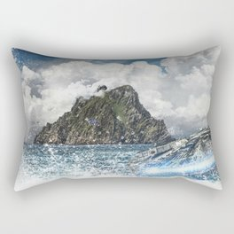 The Force Awakens Warship In Sea Digital Print Rectangular Pillow