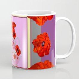 ORANGE POPPIES & PORCELAIN TEA SERVICE FLORAL ART Coffee Mug