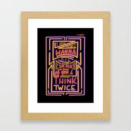 Think Twice Framed Art Print