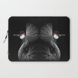 CROWNED CRANE by Monika Strigel Laptop Sleeve