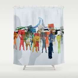 People demonstration Shower Curtain