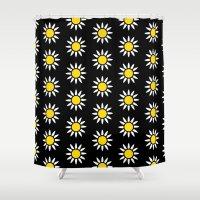 daisies Shower Curtains featuring Daisies  by Libbie Bischoff
